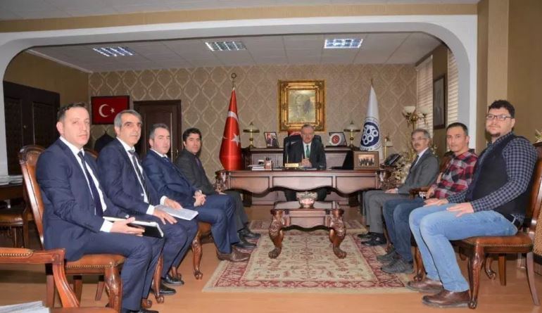 A meeting which is about public-unıversity-industry cooperation with Erzincan Binali Yıldırım University