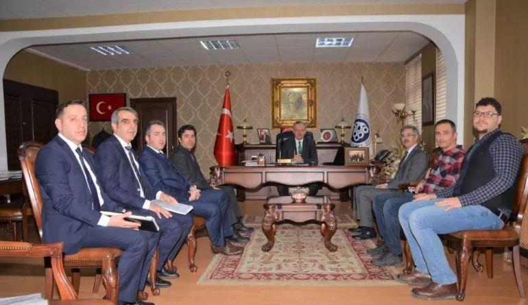 Erzincan Binali Yıldırım Üniversitesi Rektörü ile KÜSİ Kapsamında İş Birlikleri ve Faaliyetler Konusunda Görüşme